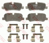 LR055454 TRW GDB1632 Brake Pad Set of 4